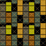 Squares seamless pattern retro texture background Royalty Free Stock Images