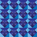 Squares seamless royal blue background design. Squares seamless royal blue design  background Royalty Free Stock Photo