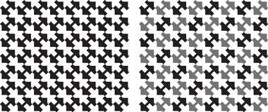 Squares seamlessly repeatable pattern in black and white. Vector Stock Photography