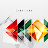 Squares and shadows - tech abstract background. Squares and shadows - colorful geometric futuristic tech abstract background vector illustration