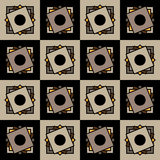 The squares on squares. Seamless geometric pattern. Colored squares on squares. Seamless geometric pattern Royalty Free Stock Photo