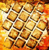 Squares with stains Stock Photography