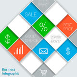 Squares template Royalty Free Stock Photography
