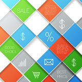 Squares template Royalty Free Stock Images