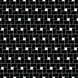Squares tessellation vector. Repeated white checks sequence on black background. Surface pattern design with polygons. Pythagorean tiling. Squares tessellation stock illustration