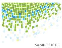 Squares texture green corner stock illustration