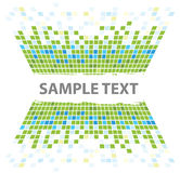 Squares texture green walls Royalty Free Stock Image