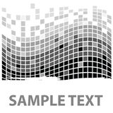 Squares texture mono sample I Royalty Free Stock Photo