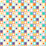 Squares wallpaper. A lot of squares that different sizes and different colors on white background Royalty Free Stock Photography