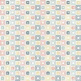 Squares wallpaper. A lot of squares that different sizes and different colors on white background Royalty Free Stock Photo