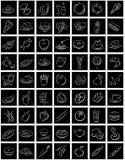 Squares White Food Symbols Stock Photography