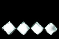 Squares with white light on black Stock Photos