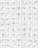 Squares With Food Symbols Royalty Free Stock Photos