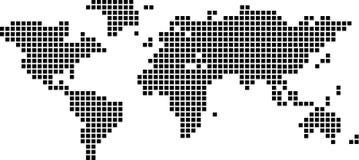 Squares world map Stock Image