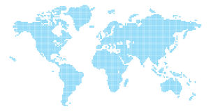 Squares world map Royalty Free Stock Photography