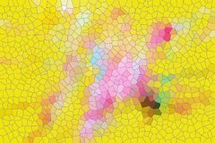 Squares yellow pink, wax bee structure. Structure in pink, yellow, green in shapes and forms, yellow hues and pastel colors. Abstract background Stock Photography