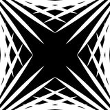 Squarish geometric graphic made of pointed lines. Edgy geometric Royalty Free Stock Photography