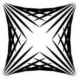 Squarish geometric graphic made of pointed lines. Edgy geometric Royalty Free Stock Photo