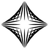 Squarish geometric graphic made of pointed lines. Edgy geometric. Pattern of random intersecting straight lines. - Royalty free vector illustration Stock Image