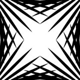 Squarish geometric graphic made of pointed lines. Edgy geometric. Pattern of random intersecting straight lines. - Royalty free vector illustration Stock Photography
