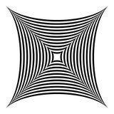 Squarish geometrische abstracte vorm royalty-vrije illustratie