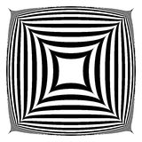 Squarish geometrische abstracte vorm stock illustratie