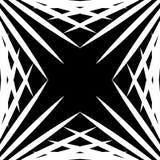 Squarish geometrische grafisch gemaakt van gerichte lijnen Gespannen geometrisch vector illustratie