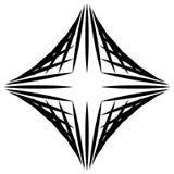 Squarish geometrische grafisch gemaakt van gerichte lijnen Gespannen geometrisch stock illustratie