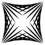 Squarish geometriskt diagram som göras av spetsiga linjer Lättretligt geometriskt royaltyfri illustrationer