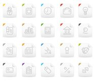 Squaro icon set: Business and Finance Stock Photo