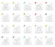 Squaro icon set: Communication Royalty Free Stock Photography