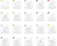 Squaro icon set: Internet and Blogging Stock Photos