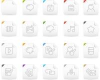Squaro icon set: Internet and Blogging. Squaro  icons. Internet and Blogging icon graphics Stock Photos