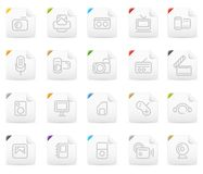 Squaro icon set: Media and Electronics Royalty Free Stock Photography