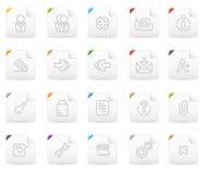 Squaro icon set: Website and Interet #2. Squaro  icons. Website and Interet icon graphics Stock Images