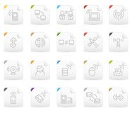 Squaro icon set: Wireless Technology Royalty Free Stock Photo