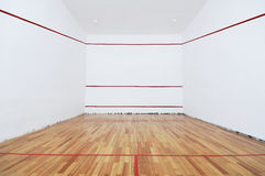 Squash. Blank room for playing squash Royalty Free Stock Images