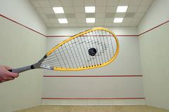 Squash. A scene form a squash game stock images