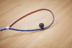 Squash background. A young squash player,squash court Royalty Free Stock Image