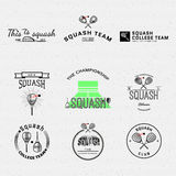 Squash badges logos and labels for any use Royalty Free Stock Photo