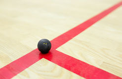 Squash ball on the court Stock Photo