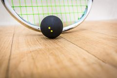 Squash Ball. On the floor stock image