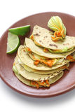 Squash blossom quesadillas, Mexican food Stock Photos