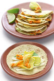 Squash blossom quesadillas, Mexican food Stock Photography