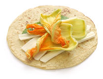 Squash blossom quesadillas, Mexican food Royalty Free Stock Photography