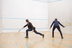 Squash businessmen players Royalty Free Stock Photos