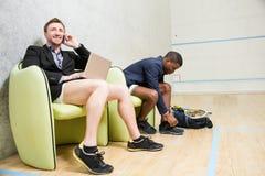 Squash businessmen players Stock Image