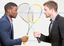 Squash businessmen players stock photo