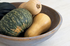 Squash. Butternut, Buttercup and Acorn Squash are healthy alternatives to pasta and potatoes Stock Photo