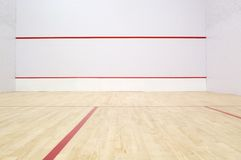 Squash Court. International squash court Royalty Free Stock Images